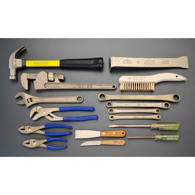 ESCO エスコ その他の工具 16丁組ツールキット(ノンスパーキング)