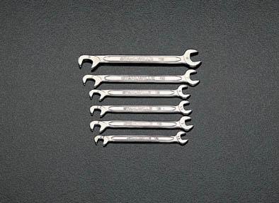 ESCO エスコ その他の工具 10本組[ミリサイズ]薄口スパナ