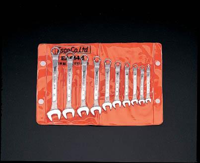 ESCO エスコ 工具 5.5-14mm10本組・片目片口スパナ