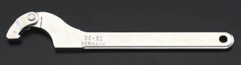 ESCOエスコ ■工具類 直営店 155-230mm自在フックレンチ [並行輸入品] ESCO メッキ付 エスコ
