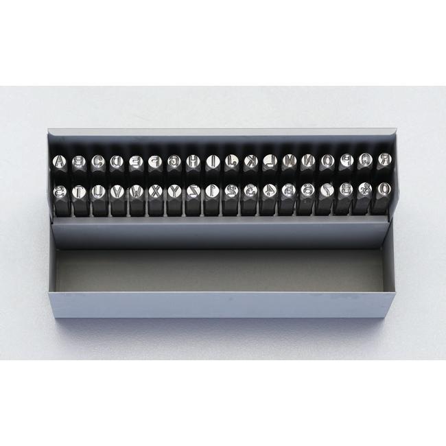 ESCO エスコ 工具 9.5mm英字・数字刻印セット