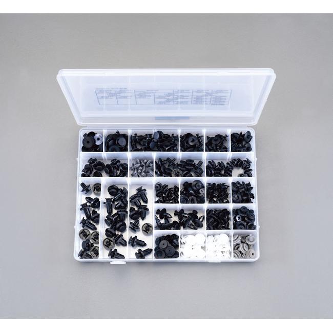 ESCO エスコ その他の工具 プッシュリベットクリップセット(24種)