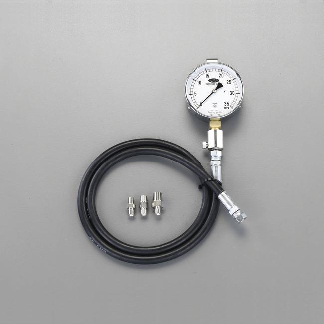ESCO エスコ 工具 30MPa/100mm高圧用油圧計