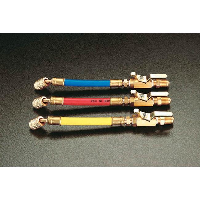 ESCO エスコ その他の工具 19cm[R410A]ボールバルブ付ホースアダプター