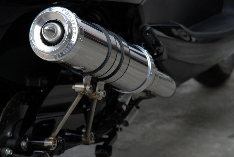 KOTANI MOTORS コタニモータース フルエキゾーストマフラー 新型マジェスティ用 BLITZ ブリッツマフラー チタングラデーション MAJESTY250 [マジェスティ] (SG20J)