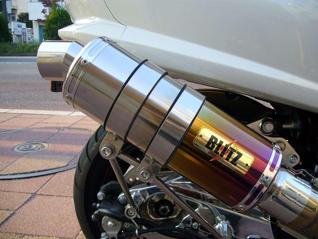 KOTANI MOTORS コタニモータース 新型マジェスティ用 BLITZ ブリッツマフラーSチタングラデーション MAJESTY250 [マジェスティ] (SG20J)