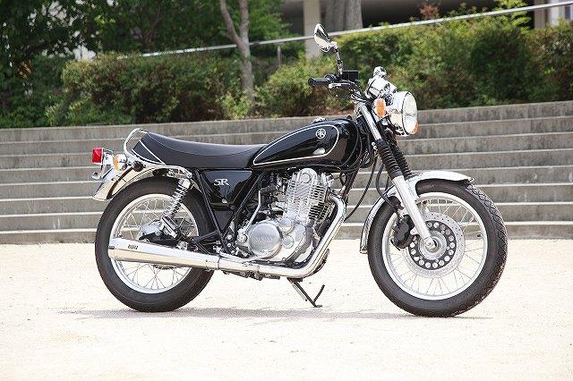 KOTANI MOTORS コタニモータース SR400用 BLITZ ブリッツマフラーメガホン フルEX ステンレス インジェクション車用 SR400