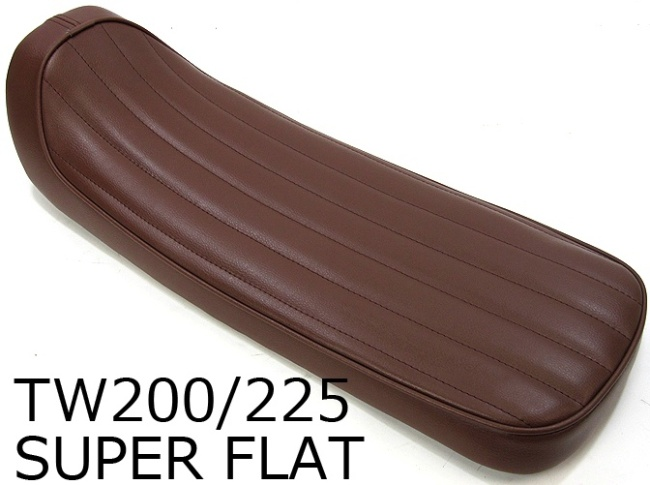 HEAVENS ヘブンズ シート本体 スーパーフラットタイプシート バーチカル シートカラー:ブラウン スタンダード 低反発シート無 TW200 TW225