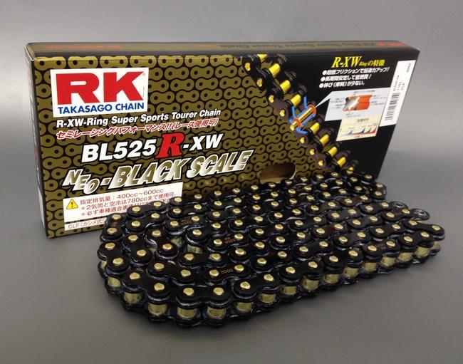 RK アールケー TAKASAGO CHAIN BLブラックスケールシリーズチェーン BL525R-XW リンク数:110