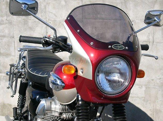 CHIC DESIGN シックデザイン ビキニカウル・バイザー ロードコメット カラー:Mマジェスティックレッド/Mグレーストーン カラー:クリア W400 W650 W800