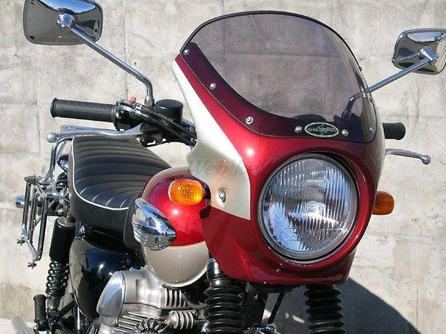 CHIC DESIGN シックデザイン ビキニカウル・バイザー ロードコメット カラー:クリア カラー:ルミナスポラリスブルー/アトミックシルバー W400 W650 W800