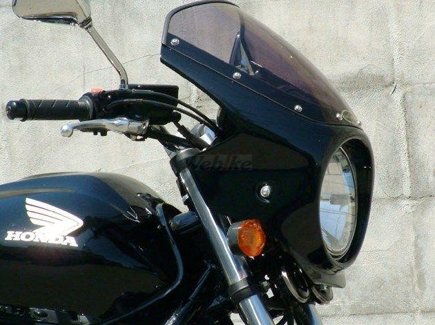 CHIC DESIGN シックデザイン ビキニカウル・バイザー ロードコメット カラー:Cブレイジングレッド/ホワイト/ブラック カラー:クリア CB400SF VTEC REVO 08-