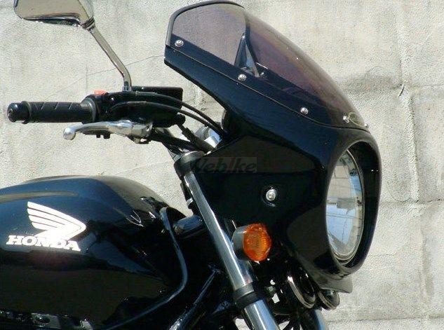 CHIC DESIGN シックデザイン ビキニカウル・バイザー ロードコメット カラー:スモーク カラー:未塗装(黒ゲルコート) CB400SF VTEC REVO 08-
