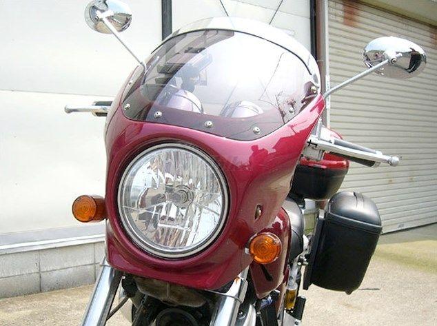 CHIC DESIGN シックデザイン ビキニカウル・バイザー ロードコメット カラー:キャンディトランスパレントレッド(カラーコード:R204C) (単色塗装済み) カラー:スモーク VRX400 ROADSTER [ロードスター]