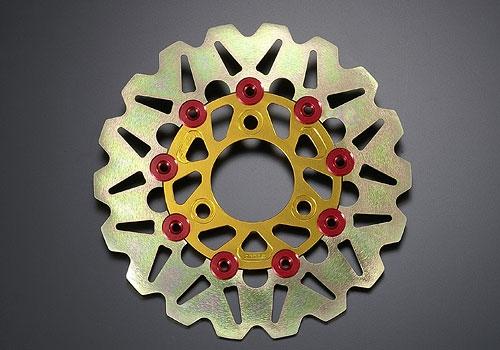 AGRAS アグラス ディスクローター カラー:ガンメタ/ピンカラー:ゴールド APE [エイプ]100 Type-D MONKEY [モンキー] NSF100 NSR50 NSR80 XR100