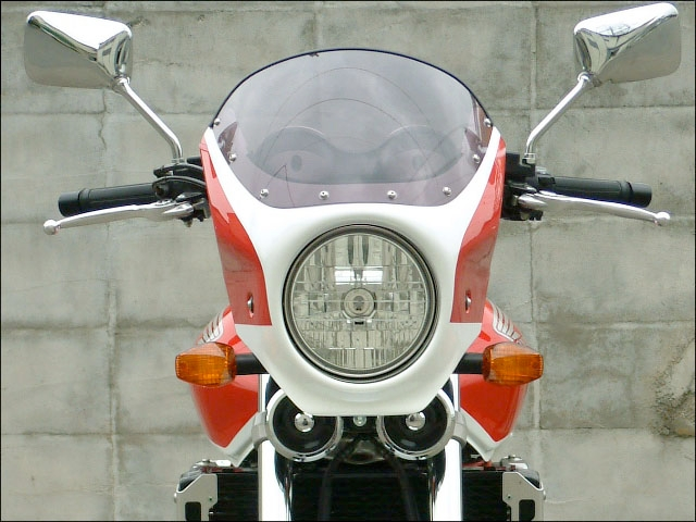 CHIC DESIGN シックデザイン ビキニカウル・バイザー ロードコメット カラー:クリア カラー:ダークネスブラックメタリック/デジタルシルバーメタリック(カラーコード:NH-463M/NH-A30M) (ツートンカラー塗装済み)