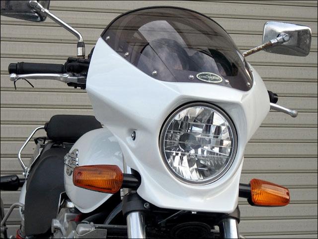 CHIC DESIGN シックデザイン ビキニカウル・バイザー マスカロード カラー:スモーク 単色塗装済:パールクリスタルホワイト (カラーコード:NH-193P) X4