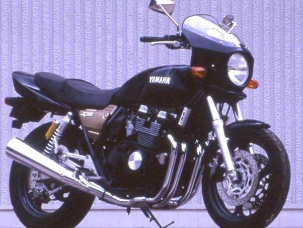 CHIC DESIGN シックデザイン ビキニカウル・バイザー マスカロード カラー:スモーク 単色塗装済:ブルーイッシュブラック (カラーコード:00MW) XJR400 /S/R 93-97