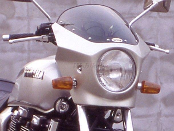 CHIC DESIGN シックデザイン ビキニカウル・バイザー マスカロード スクリーンカラー:スモーク 単色塗装済:ブラック2 XJR1200