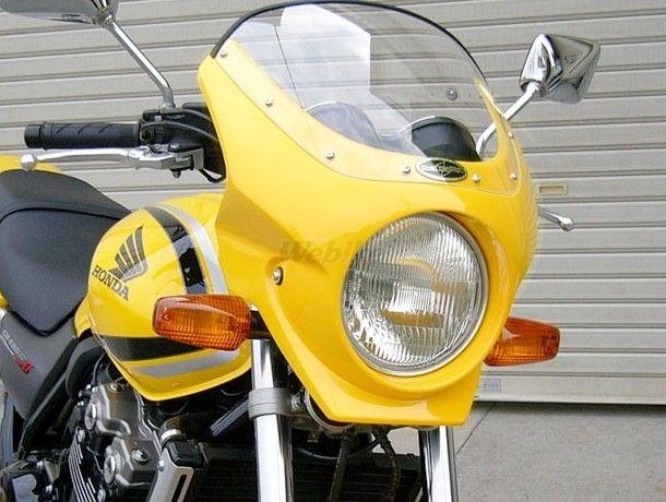 CHIC DESIGN シックデザイン ビキニカウル・バイザー ロードコメット2 カラー:スモーク カラー:パールフラッシュイエロー CB400SF VTEC SPEC2 02-03