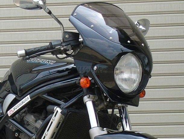 CHIC DESIGN シックデザイン ビキニカウル・バイザー ロードコメット2 カラー:キャンディアンタレスレッド カラー:スモーク BANDIT250(89-94)