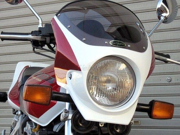 CHIC DESIGN シックデザイン ビキニカウル・バイザー ロードコメット2 カラー:Pフェイドレスホワイト/Cブレイジングレッド カラー:クリア CB1000SF