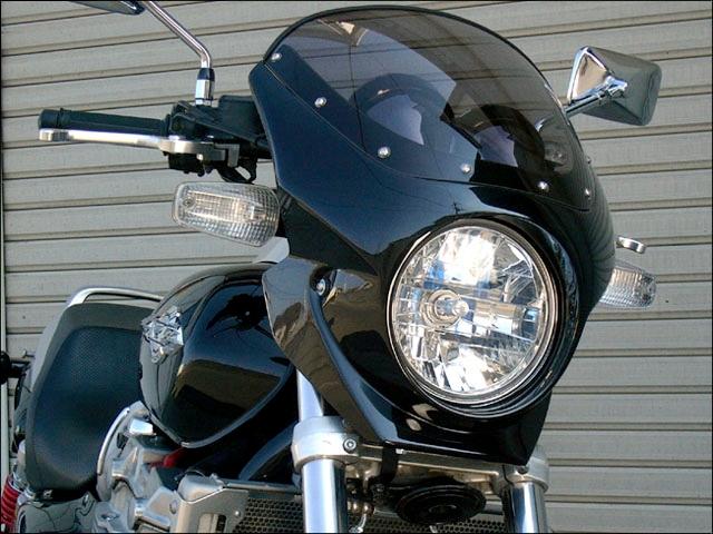 CHIC DESIGN シックデザイン ビキニカウル・バイザー ロードコメット2 カラー:クリア カラー:ブラック (カラーコード:NH1E)(単色塗装済み) X4