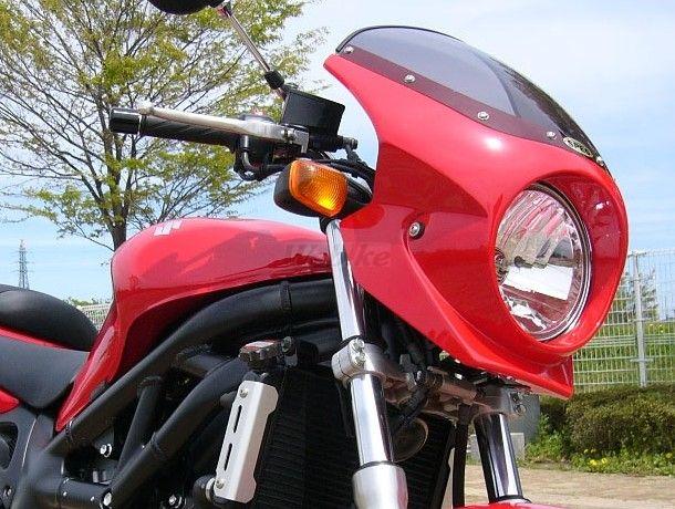 CHIC DESIGN シックデザイン ビキニカウル・バイザー ロードコメット2 カラー:クリア カラー:パールヘリオスレッド 650 SV400