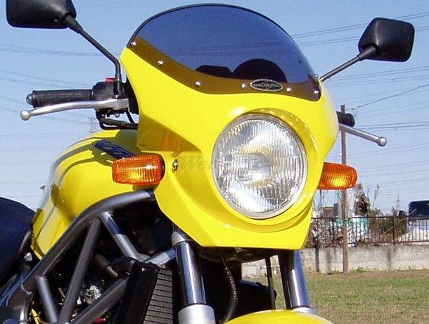 CHIC DESIGN シックデザイン ビキニカウル・バイザー ロードコメット2 カラー:イタリアンレッド カラー:クリア VTR250