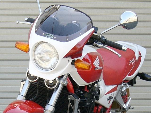 CHIC DESIGN シックデザイン ビキニカウル・バイザー ロードコメット2 カラー:Pフェイドレスホワイト/Cブレイジングレッド カラー:クリア CB1300SF