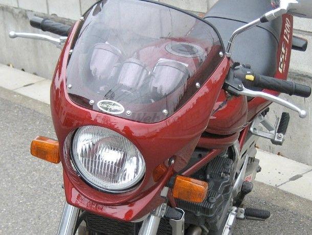 CHIC DESIGN シックデザイン ビキニカウル・バイザー ロードコメット2 カラー:ウォームシルバーメタリック カラー:クリア GSF1200