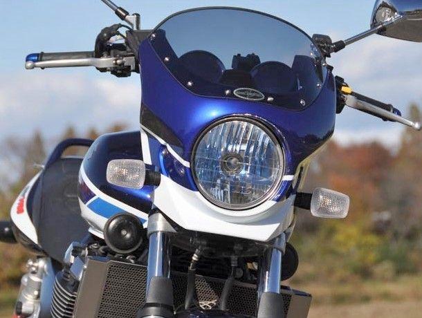 CHIC DESIGN シックデザイン ビキニカウル・バイザー ロードコメット2 カラー:Pスズキディ-プブル-/Gスプラッシュホワイト(07青白3ト-ン) スクリーンカラー:クリア GSX1400 01-08