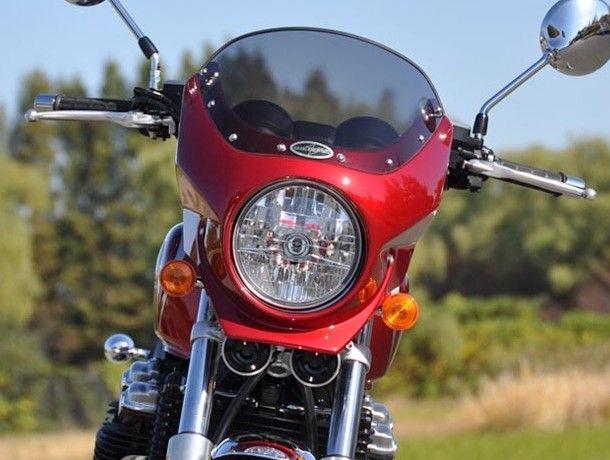 CHIC DESIGN シックデザイン ビキニカウル・バイザー ロードコメット2 カラー:クリア カラー:パールミルキーホワイト(ストライプ) CB1100 10-13