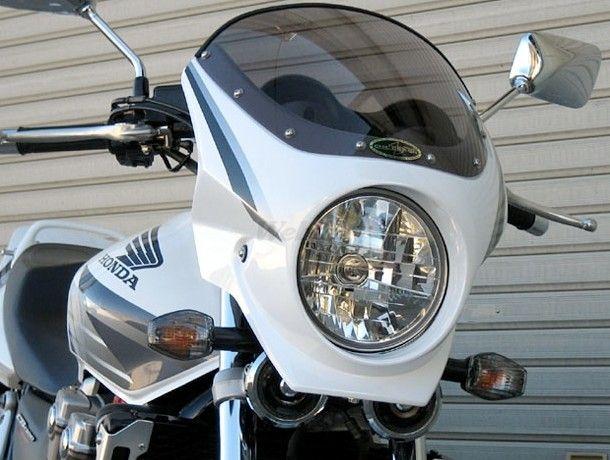 CHIC DESIGN シックデザイン ビキニカウル・バイザー ロードコメット2 カラー:Pフェイドレスホワイト/Cアルカディアンレッド(05-06) カラー:クリア CB1300SF
