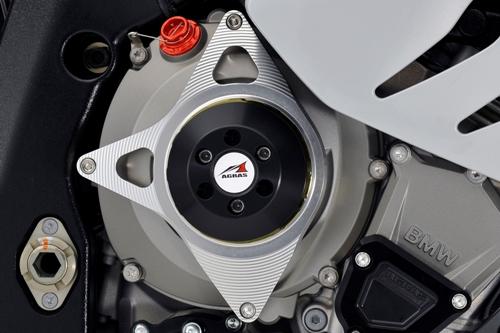 AGRAS アグラス ガード・スライダー レーシングスライダー アルミスペーサーカラー:チタン /ジュラコンカラー:ホワイト S1000RR