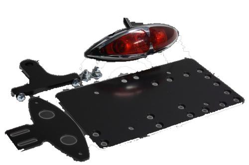 ガレージT&F ナンバープレート関連 サイドナンバーキット グラステールランプ テールランプ:12V23/8W バルブ シャドウ400