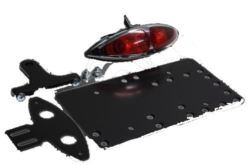 ガレージT&F ナンバープレート関連 サイドナンバーキット グラステールランプ ドラッグスター1100 ドラッグスター1100クラシック