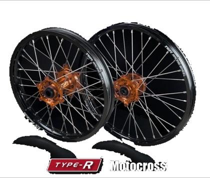 TGR TECHNIX GEAR TGRテクニクスギア ホイール本体 TYPE-R Motocross(モトクロス)用ホイール ニップルカラー:オレンジ ハブカラー:グリーン(KAWASAKI COLOR)
