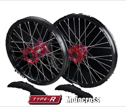 TGR TECHNIX GEAR TGRテクニクスギア ホイール本体 TYPE-R Motocross(モトクロス)用ホイール ニップルカラー:オレンジ ハブカラー:グリーン(KAWASAKI COLOR) CRF450R CRF450RX