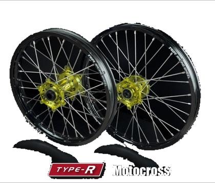 TGR TECHNIX GEAR TGRテクニクスギア ホイール本体 TYPE-R Motocross(モトクロス)用ホイール ニップルカラー:ゴールド ハブカラー:レッド(HONDA COLOR) RM-Z450 RMX450Z 10-17