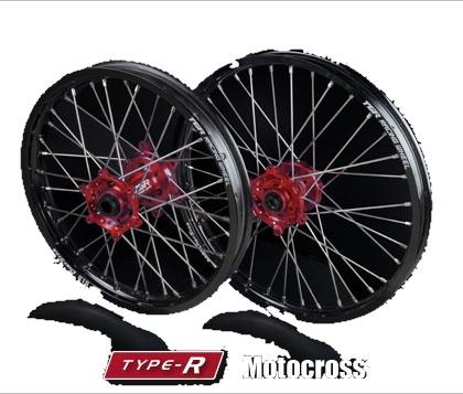 TGR TECHNIX GEAR TGRテクニクスギア ホイール本体 TYPE-R Motocross(モトクロス)用ホイール ニップルカラー:グリーン ハブカラー:ブルー(YAMAHA COLOR) CR250 CRF450R