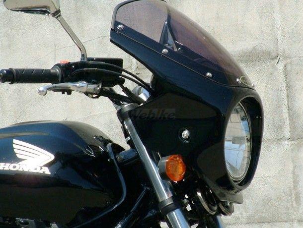 CHIC DESIGN シックデザイン ビキニカウル・バイザー ロードコメット カラー:Cブレイジングレッド/ホワイト/ブラック カラー:スモーク CB400SF VTEC REVO 08-