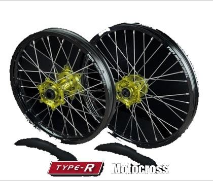 TGR TECHNIX GEAR TGRテクニクスギア ホイール本体 TYPE-R Motocross(モトクロス)用ホイール ニップルカラー:シルバー(ノーマル) ハブカラー:レッド(HONDA COLOR) RMZ250 07-17