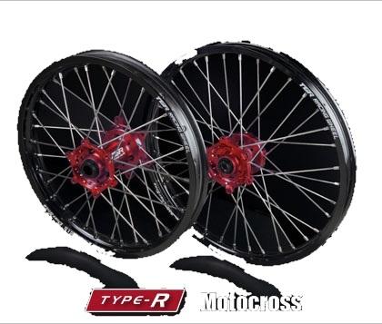 TGR TECHNIX GEAR TGRテクニクスギア ホイール本体 TYPE-R Motocross(モトクロス)用ホイール ニップルカラー:ゴールド ハブカラー:ブルー(YAMAHA COLOR) CRF450X