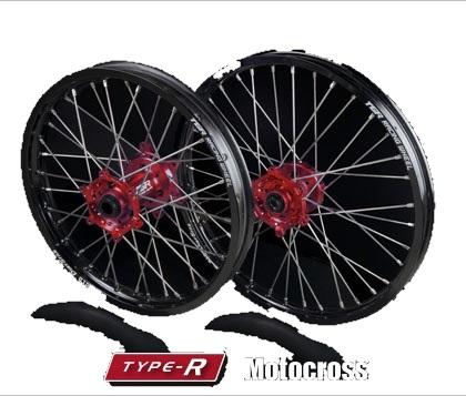 TGR TECHNIX GEAR TGRテクニクスギア ホイール本体 TYPE-R Motocross(モトクロス)用ホイール ニップルカラー:レッド ハブカラー:グリーン(KAWASAKI COLOR) CRF250R