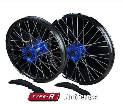 TGR TECHNIX GEAR TGRテクニクスギア ホイール本体 TYPE-R Motocross(モトクロス)用ホイール ニップルカラー:シルバー(ノーマル) ハブカラー:ブルー(YAMAHA COLOR) WR250R 07-17