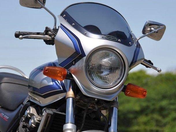 CHIC DESIGN シックデザイン ビキニカウル・バイザー マスカロード カラー:イタリアンレッド(ストライプ) スクリーンカラー:スモーク CB400スーパーフォア