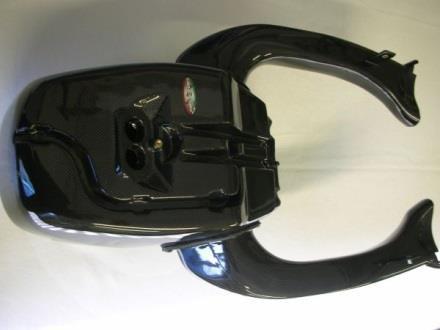 CARBONVANI カーボンバーニ その他外装関連パーツ エアダクトボックス クリア塗装:ツヤ無 1098R