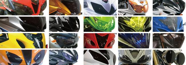 ODAX オダックス その他灯火類 POWER BRONZE レンズシールド カラー:イリジウムシルバー Ninja1000 R 11-13 NINJA400R [ニンジャ] 10-13