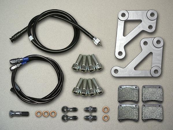 メタルギアワークス METAL GEAR WORKS キャリパーサポート カラー:シルバー CB750FZ/FA(RC04)、CB900FZ(SC01)
